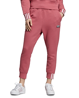 adidas Originals Striped-Cuff Sweatpants