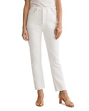 Agolde Riley High-Rise Crop Straight Jeans in Tissue-Women
