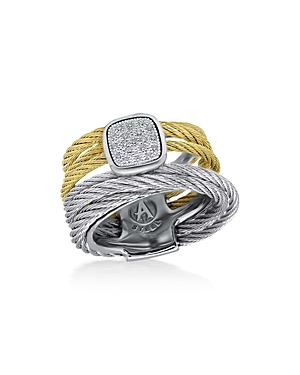 Diamond Cluster Cable Ring