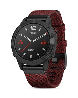 Garmin - Fenix 6 Ember Orange or Heathered Red Band Smartwatch, 47mm