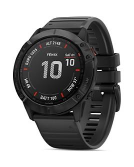 Garmin - Fenix 6X Black Silicone Strap Smartwatch, 51mm