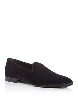 BOSS Hugo Boss - Men's Glam Velvet Smoking Slippers