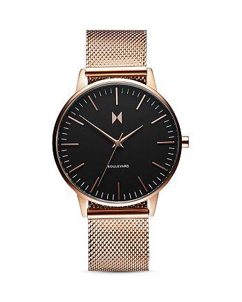MVMT - Boulevard Magnolia Rose-Gold Mesh Bracelet Watch, 38mm