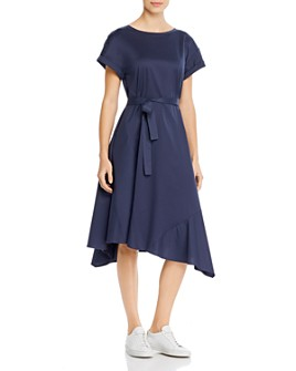 Weekend Max Mara - Palazzi Asymmetric Cotton Midi Dress