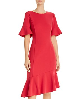Adrianna Papell - Ruffled Crepe Dress