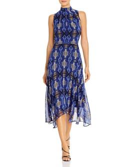 Calvin Klein - Sleeveless Snakeskin-Print Dress
