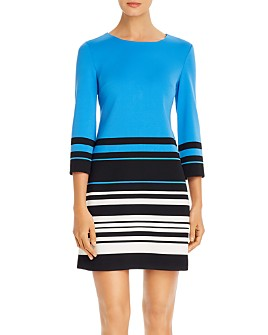 KARL LAGERFELD PARIS - Color-Blocked Striped Sheath Dress