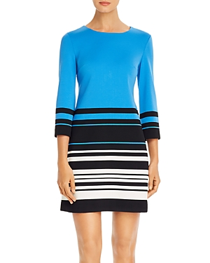 Karl Lagerfeld Paris Color-Blocked Striped Sheath Dress