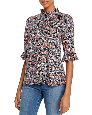 Rebecca Taylor Twilight Floral Print Top - 100% Exclusive-Women