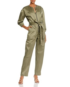 Rebecca Taylor - Sateen Belted Utility Jumpsuit
