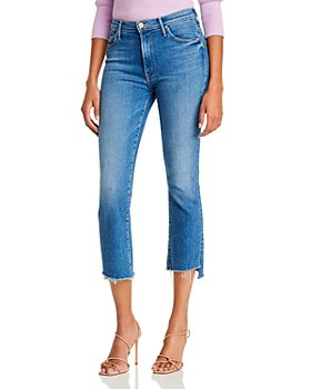 MOTHER - The Insider Crop Step Fray Flared Jeans in Hey Sun