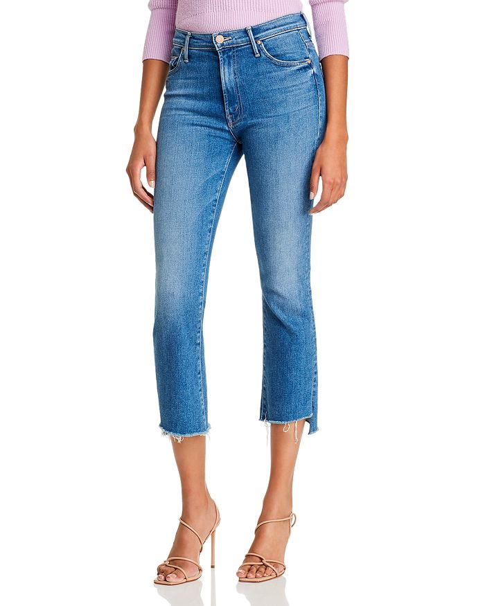 hot list - The Insider Crop Step Fray Flared Jeans