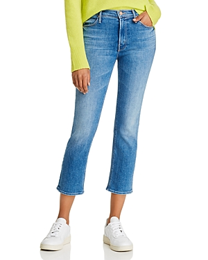 Mother The Dazzler Ankle Straight-Leg Jeans in Hey Sun-Women