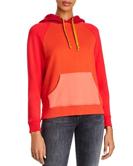 MOTHER - The Square Color-Block Hooded Sweatshirt