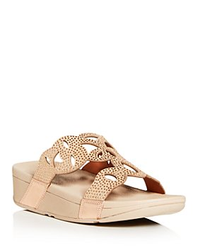 FitFlop - Women's Elora Crystal Wedge Slide Sandals