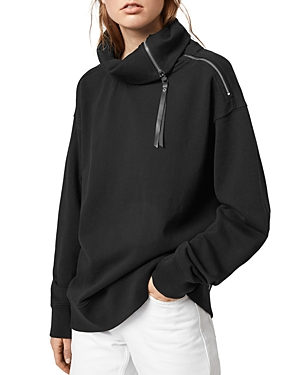Allsaints Bella Zip Detail Sweatshirt