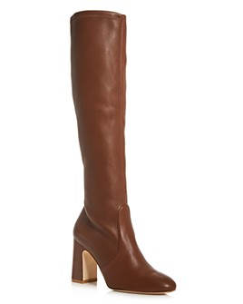 Stuart Weitzman - Women's Milla Stretch Block High-Heel Boots
