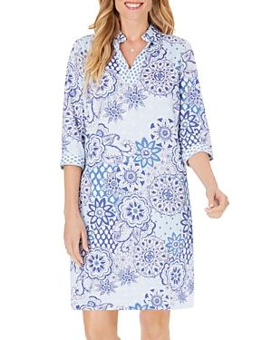Foxcroft Angel Wrinkle-Free Sateen Shift Dress-Women