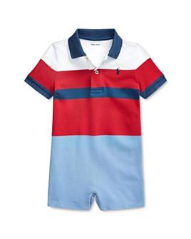 Ralph Lauren - Boys' Striped Polo Shortall - Baby