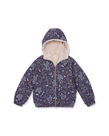 Peek Kids - Girls' Andrea Faux Fur Reversible Jacket - Little Kid, Big Kid