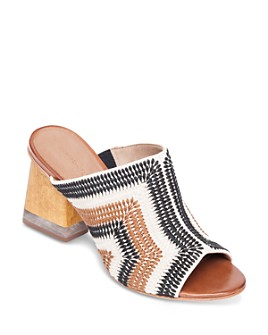 Bernardo - Women's Nala Embroidered Block Heel Mules