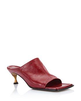 Bottega Veneta - Women's Leather Mule Sandals
