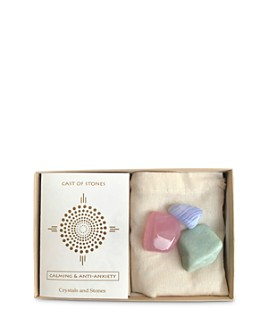 Cast of Stones - Calming & Anti-Anxiety Rose Quartz, Amazonite & Blue Lace Agate Stone Set