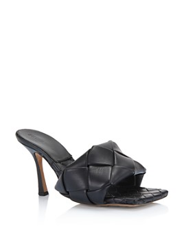 Bottega Veneta - Women's Woven Leather High-Heel Sandals