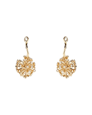 Alexis Bittar Asteria Crystal Cluster Hoop Drop Earrings