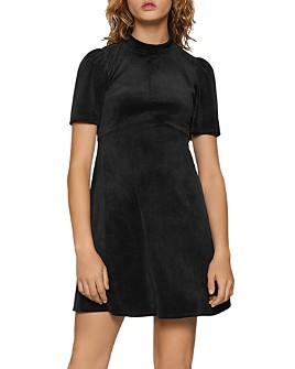 BCBGENERATION - Puff-Sleeve Velour Dress