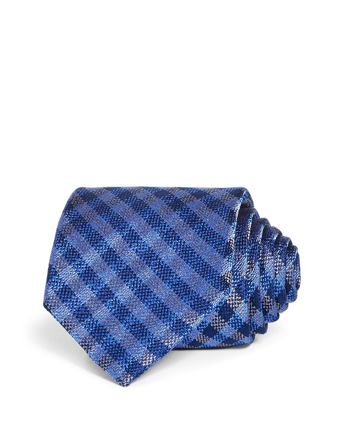 The Men's Store at Bloomingdale's - Textured Gingham Silk Classic Tie - 100% Exclusive