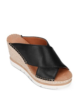 Gentle Souls by Kenneth Cole - Women's Elyssa Cross Band Wedge Sandals
