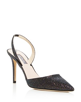 SJP by Sarah Jessica Parker - Women's Bliss Glitter Slingback Pumps