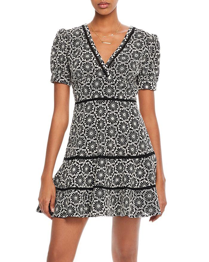AQUA - Puff-Sleeve Eyelet Dress - 100% Exclusive