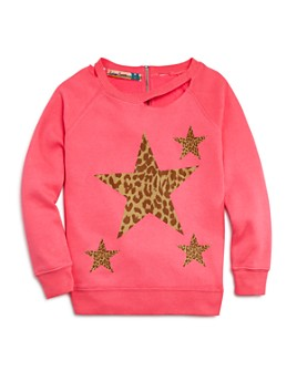 Vintage Havana - Girls' Leopard-Star Sweatshirt - Big Kid