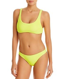 PQ Swim - Pineapple Reef Ring Bikini Top & Full Bikini Bottom