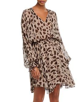 Anine Bing - Elliana Leopard-Printed Silk Dress