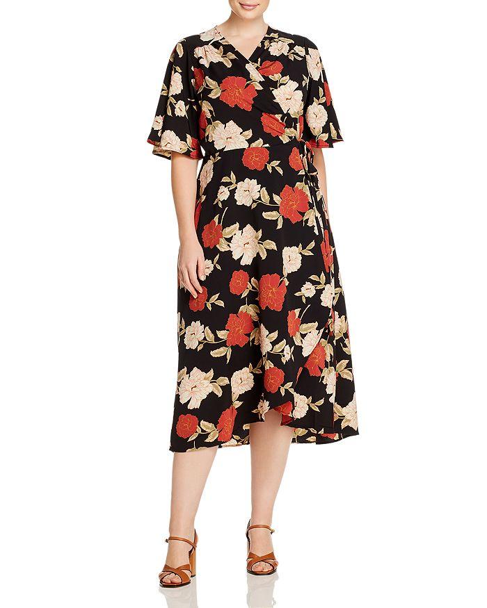 B Collection by Bobeau Curvy - Orna Floral-Print Wrap Dress