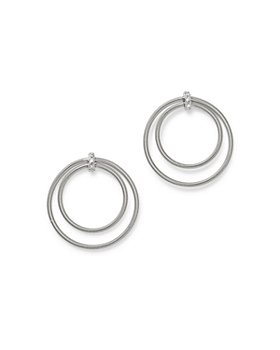 Marco Bicego - 18K White Gold Bi49 Diamond Circle Earrings - 100% Exclusive