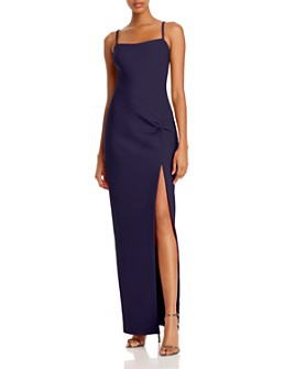 LIKELY - Kiara Twist-Front Column Gown