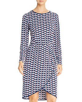 Leota - Angelina Long-Sleeve Geo Dress