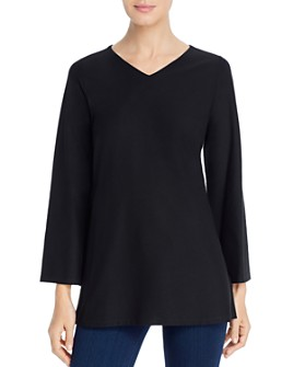 Eileen Fisher - V-Neck Tunic Top