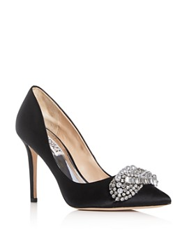 Badgley Mischka - Women's Olga Embellished Pointed-Toe Pumps