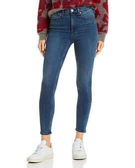 rag & bone - Nina High-Rise Ankle Skinny Jeans in Sin City