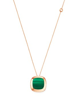 Roberto Coin - 18K Rose Gold Carnaby Street Malachite Pendant Necklace, 28""