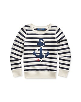 Ralph Lauren - Girls' Embroidered Anchor Sweatshirt - Little Kid