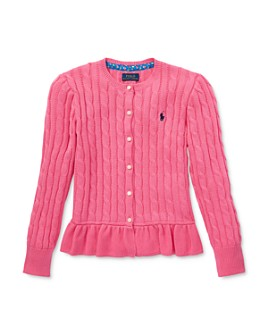 Ralph Lauren - Girls' Peplum Cardigan Sweater - Big Kid