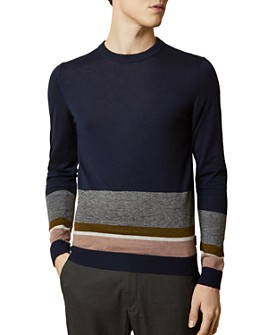 Ted Baker - Host Color-Block Crewneck Sweater