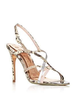 Ted Baker - Women's Theanaa Snake-Embossed Strappy High-Heel Sandals