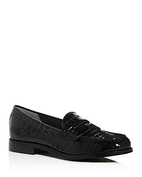 Marc Fisher LTD. - Women's Halli Croc-Embossed Moc-Toe Penny Loafers
